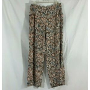 Forever 21 Boho Abstract Wide Flare Leg Pants M